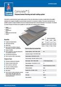 Resin flooring Cemcrete S system
