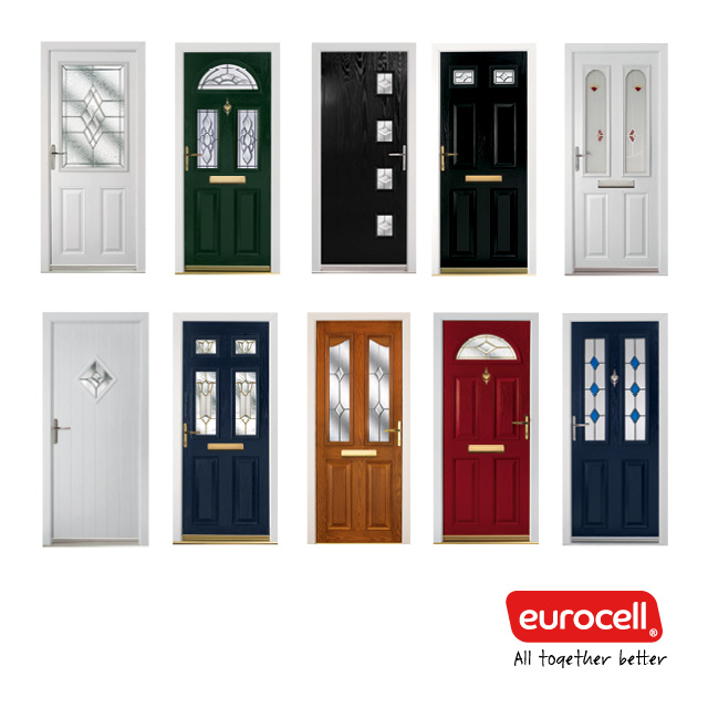 Composite Door With Clear Glass