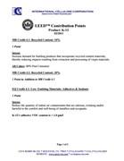 SonaSpray K-13 & K-13 Special acoustic spray LEED Contribution Points