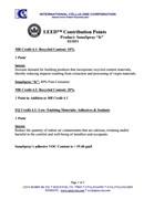 SonaSpray fc acoustic spray LEED Contribution Points