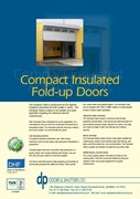 Compact Insulated Fold-up Doors