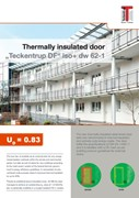 """Teckentrup DF iso+ dw 62-1 thermally broken steel door and doorset to RC2 and 38dB"