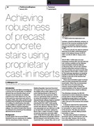 Achieving robustness of precast concrete stairs using proprietary cast-in inserts