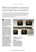 Effective installation of precast stairs in high-rise construction