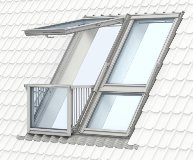 Gdl Cabrio Balcony System Manually Operated Velux Company Ltd