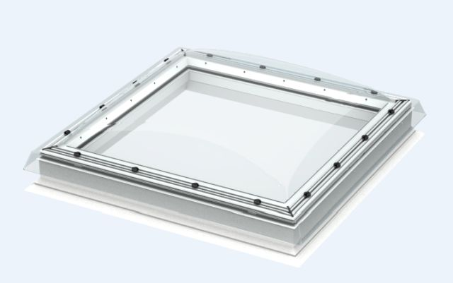CFP fixed, flat roof window with polycarbonate cover