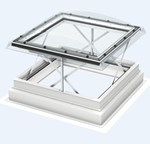 CSP automatic smoke ventilation, flat roof window, with polycarbonate cover