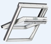 GGU manually operated, white polyurethane, centre-pivot roof window