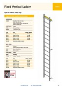 TYPE BL Fixed Vertical Ladder - No Safety Cage