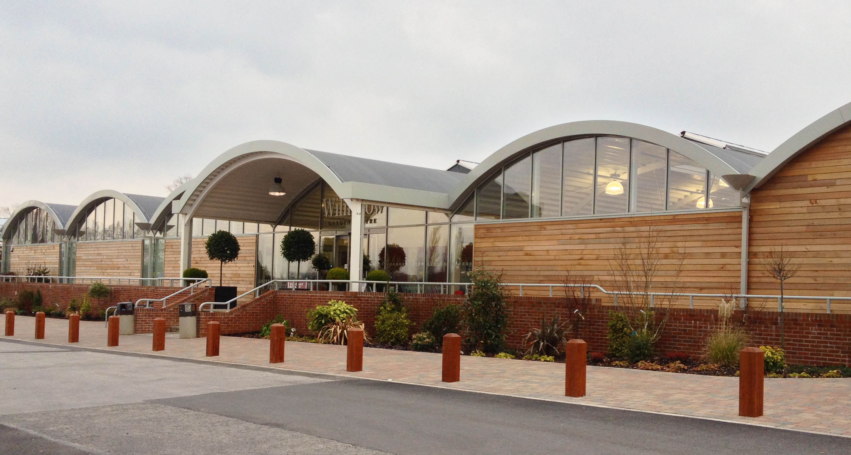 Protan prefabricated roof system at wilmslow garden centre for Prefabricated roof