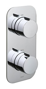 Altitude Tablet Vertical 2 Outlet 2 Handle Thermostatic Valve with All-Flow