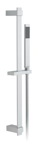 Square Single Function Slide Rail Shower Kit
