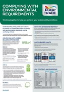 Dulux Trade Sustainability Summary Green Building Standards