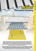 LEWIS Deck, steel and concrete floors for Acoustic separation, underfloor heating, load bearing and wet rooms