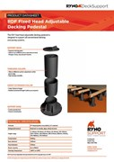 Datasheet - Fixed-head Adjustable Decking Pedestals
