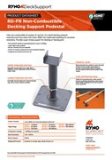Datasheet  RD-FR Non-Combustible Decking Support Pedestal