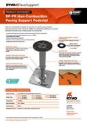 Datasheet  RP-FR Non-Combustible Paving Support Pedestal