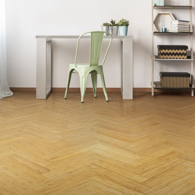12 mm Bamboo Parquet Block Flooring Strand Woven – Natural
