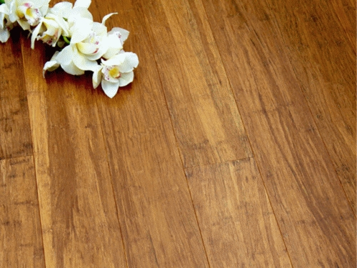 14 mm Bamboo Flooring Strand Woven - Carbonized Uniclic