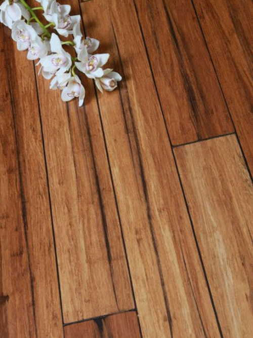 14 mm Bamboo Flooring Strand Woven - Rustic Carbonized