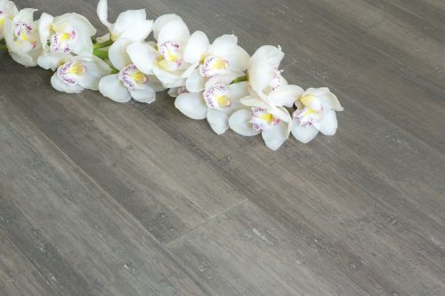 14 mm Bamboo Flooring Strand Woven - Solid Stone Grey