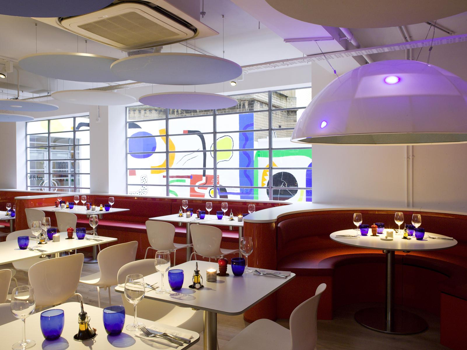 Printed Optima Canopy in Pizza Express