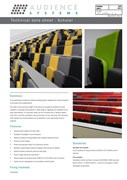 Scholar Lecture Theatre Seating, Chair and Writing Tablet System