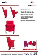 Orion Auditorium Seating Spec