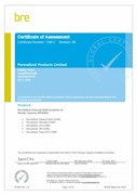 BRE Global Certificate 158/12 - PermaRock External Wall Insulation and Render Systems