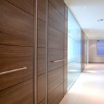 54 mm Thick Timber Door In Microflush Frame