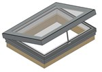 RG-80 Hinged Flatglass Single Pane Rooflight