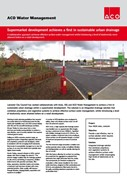Supermarket development achieves a first in sustainable urban drainage