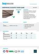 Knauf Insulation Acoustic Floor Slab Insulation Data Sheet