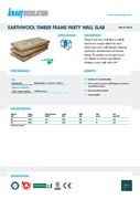Knauf Insulation Timber Frame Party Wall Slab Insulation Data Sheet