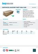 Knauf Insulation Masonry Party Wall Slab Insulation Data Sheet