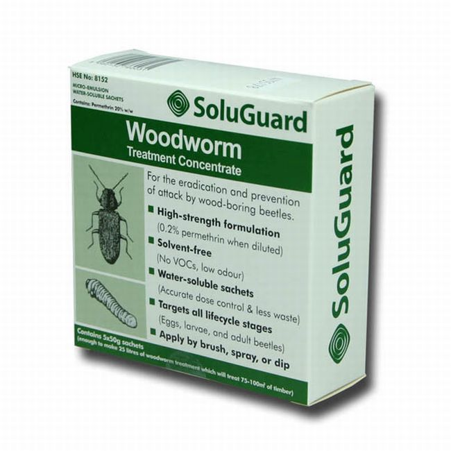 SoluGuard Woodworm Treatment Concentrate