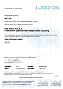 BES 6001 Certificate (Clay Cross)