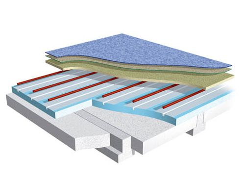 UFH Timber floors, foiled polystyrene floating floor system