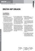 Delta-NP Drain Installation Instructions