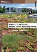 Flat Green Roof Systems for Gardens, Terraces, Walkways & Parking