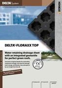 DELTA-FLORAXX TOP - Water Retaining Drainage Sheet