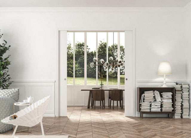 Classic Sliding Pocket Door System – Double