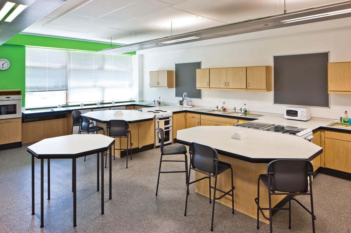 Home Economics Classroom Design Training Kitchen Causeway School