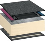 Bauder Total Roof System - Reinforced Bitumen Membrane Warm Roof Covering System Self-Adhered (with Torch-On Capping Sheet)