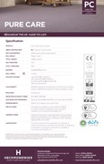 Specification Sheet - Pure Care Commercial Carpet