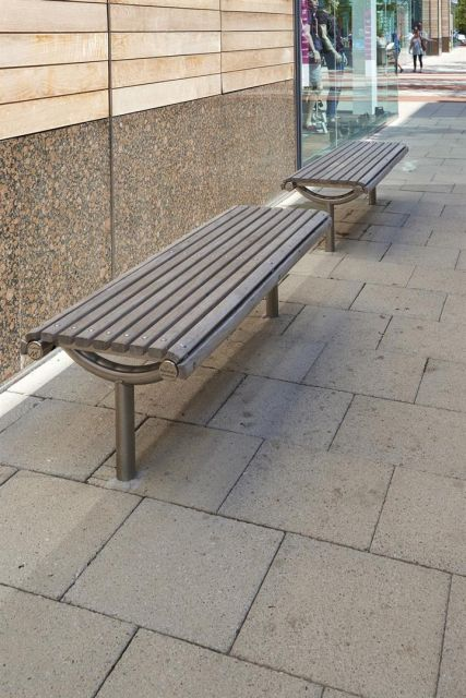 Ollerton M3 Straight Bench with Hardwood Slats
