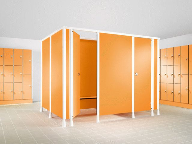 Aqualine Fully Framed Changing Cubicle