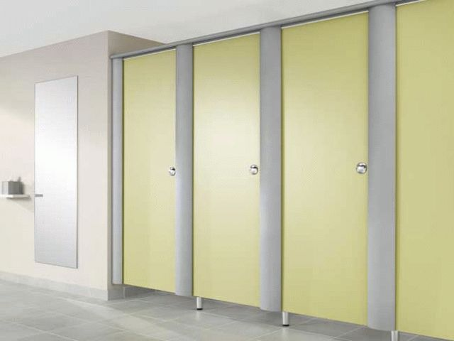 Linea Privacy Screen With HPL Divisions