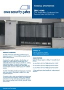 Crash Tested Sliding Cantilevered Gate - CSG 10140