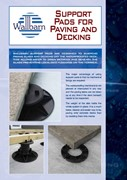 Wallbarn support pads for paving and timber decking 2012